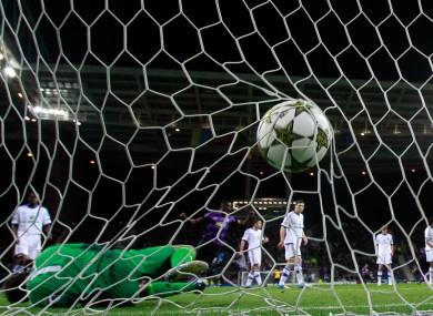 FC Porto's Jackson Martinez scores against Kiev recently.