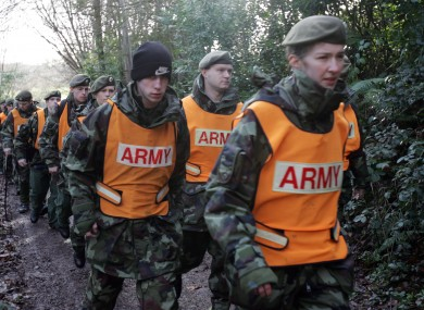 Members of the Reserve Defence Forces.