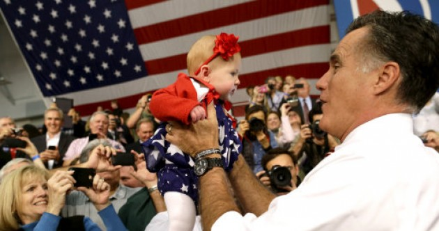 Obama v Romney: Who's better at holding babies?
