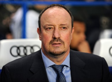 Rafa Benitez was given a hostile reception by Chelsea supporters this afternoon.