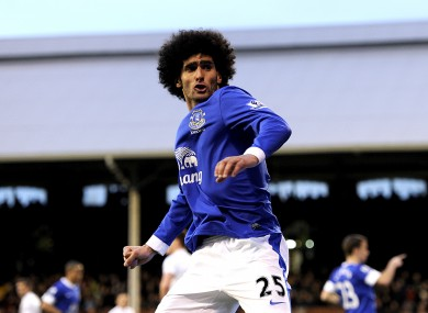 Everton's Marouane Fellaini was in impressive form last week.