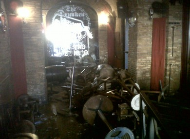 The Drunken Ship in Rome the morning after five English football fans we injured after being attacked.