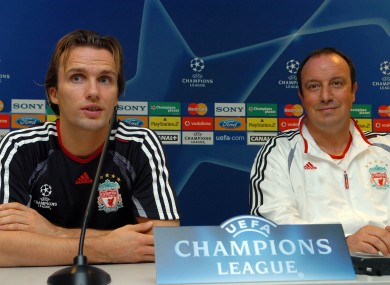 Zenden and Benitez during their Liverpool days.