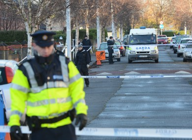 The scene where Eamon Kelly was fatally shot earlier this week