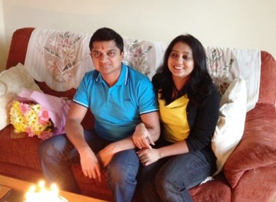 Savita Halappanavar (right), with her husband Praveen. Praveen Halappanavar has said he would not co-operate wi