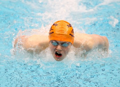Brendan Hyland set junior and senior records in the Men's 200m Butterfly.