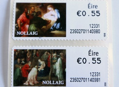 Irish stamps, which show the word 'Éire', but not 'Ireland'.