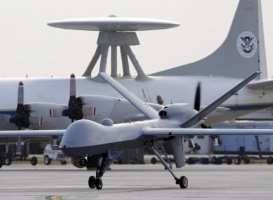 A Predator B unmanned drone pictured in Texas (File photo)