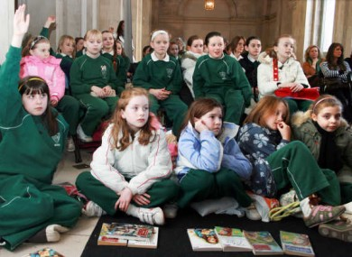 File photo of pupils from St Vincent's School reading.