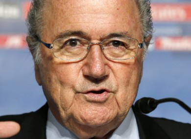 Sepp Blatter speaks during during a press conference in Tokyo on Saturday.