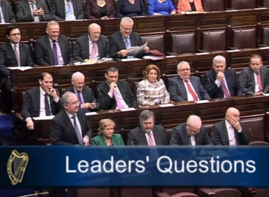 Pat Rabbitte speaking during Leaders' Questions this morning