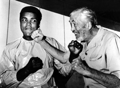 The story of how Muhammad Ali ended up fighting in Croke Park in 1972 is told in When Ali Came to Ireland on New Year's Day, 6.30pm. (Seen here with filmmaker John Huston in Dublin who came to Dublin to see the fight).