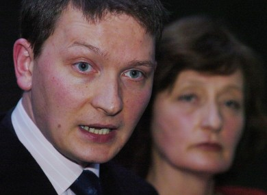 Geraldine Finucane, the wife of murdered solicitor Pat Finucane (right), stands besides her son Michael (left) - file photo