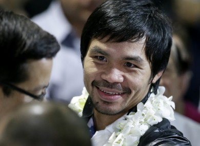 Manny Pacquiao arrives back in Manila today.