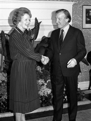 Margaret Thatcher which Charles Haughey at 10 Downing Street
