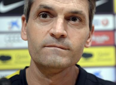 Relapse: Barcelona's coach Tito Vilanova.