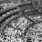 Suffragettes at a mass meeting in the Royal Albert Hall circa 1913. (PA Archive)