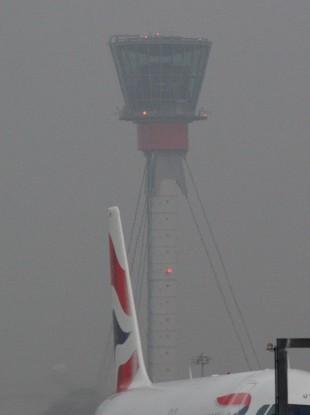 File photo of freezing fog at Heathrow Airport.