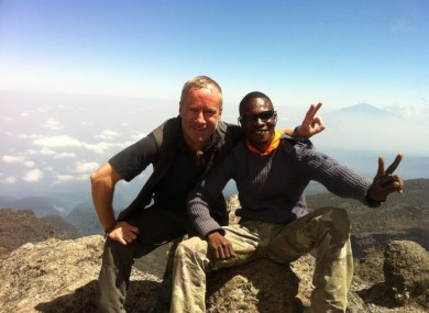McKeever pictured with guide and friend Gabriel during last summer