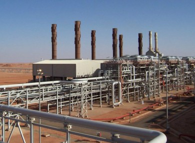 An undated image released by BP petroleum company, showing the Amenas natural gas field in the eastern central region of Algeria