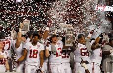 No luck for Irish: Alabama take 2nd straight college title
