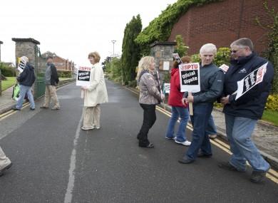 Bord Na Mona strike last year.