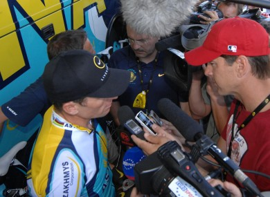Armstrong interviewed in 2009 by former team-mate Frankie Andreu.