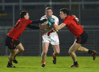 Armagh's Declan McKenna in action tonight.