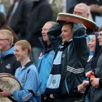 The diehards come out in force. A band of Dublin supporters and their bodhrán's make the trip to Dr Cullen Park.
