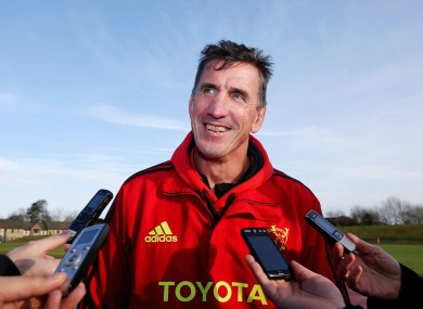 Rob Penney at the midweek press briefing in UL.