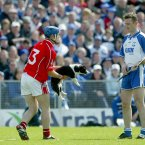 Cork's Kieran Murphy looks to transfer this offender to Waterford's Tom Feeney.