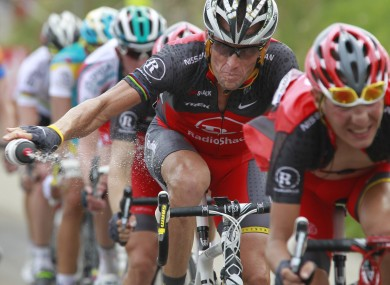 Lance Armstrong: ready to talk.