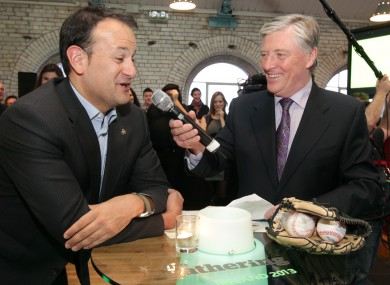 Leo Varadkar and Pat Kenny at The Gathering launch.