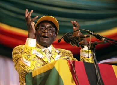 Maybe Robert Mugabe's been spending the money on suits.