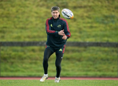 Ronan O'Gara trains ahead of the weekend's game.