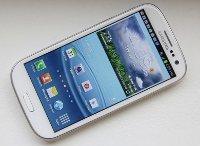 File photo of the Sansumg Galaxy S III phone.