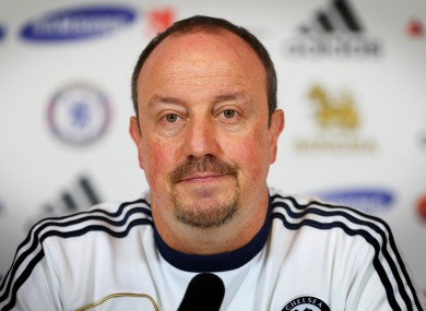 Rafa Benitez: unhappy tenure in Milan.