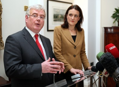 Tánaiste Eamon Gilmore meeting today with the Northern Ireland Secretary, Theresa Villiers.