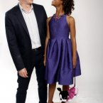 And finally - look at Quvenzhane having the lols with her Beasts of the Southern Wild director Benh Zeitlin.  Where would we be without her?  (Photo by Matt Sayles/Invision/AP)