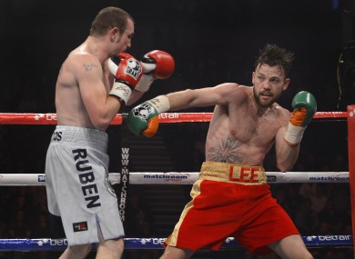 Lee, right, beat Anthony Fitzgerald in Belfast on Saturday.