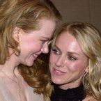 """NICOLE KIDMAN AND NAOMI WATSON:  These two became friends as young actresses in Australia and have stuck together ever since.  Just last week Naomi credited Nicole for her support before her career took off, """"She kept saying, 'It's just going to take one thing, one thing, Nay, and you know, if you're in a hit film…then everything changes."""" AP Photo/Chris Weeks"""