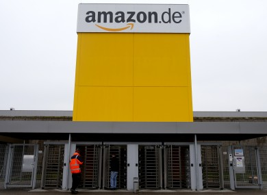 Amazon's logistic center in Rheinberg, Germany.