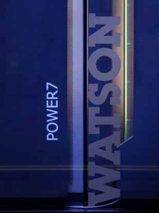 The hardware for the IBM supercomputer called 'Watson'.