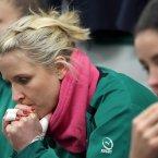 Joy Neville in the dressing room before the game. ©INPHO/Dan Sheridan