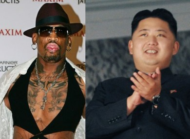 Dennis Rodman, on the right, and the North Korean leader.