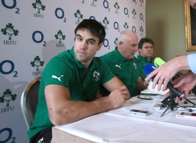Conor Murray at this afternoon's press briefing.