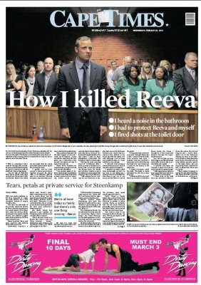 media coverage of reeva steenkamps death essay Rebecca davis | the guardian  moved to house arrest after serving 10 months of the five-year sentence he received last year for killing his girlfriend reeva.