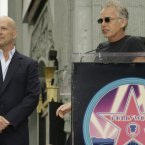 BRUCE WILLIS AND BILLY BOB THORNTON:  There is just something so right about this.  These two have been friends for years, with Billy Bob even introducing Bruce when he got his star on the Hollywood Walk of Fame.  AP Photo/Damian Dovarganes