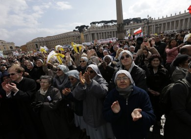More than 100,000 people are believed to have attended today's service in Rome.