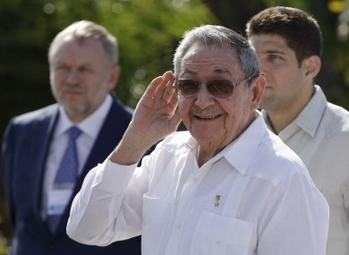 Raul Castro takes questions from journalists on Friday